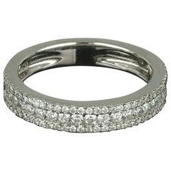 Amwaj Jewellery 18 Karat White Gold Ring with Round Diamond