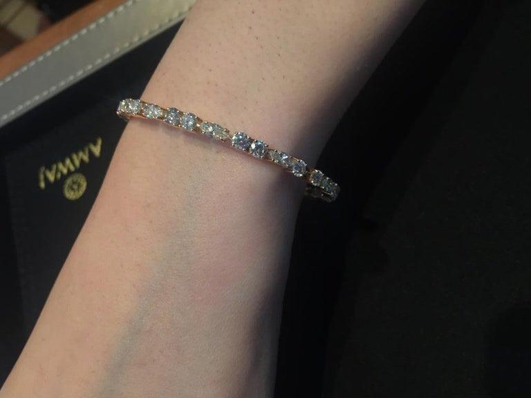 Women's Amwaj Jewellery Marquise and Round Cut Diamond Bangle For Sale