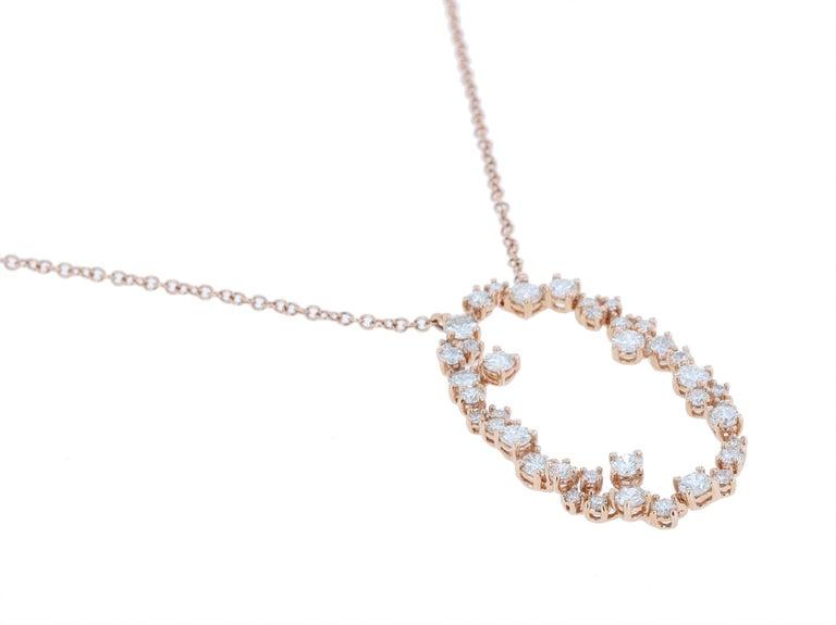 Amwaj Jewelry 18 Karat Rose Gold Pendant In New Condition For Sale In Abu Dhabi, Abu Dhabi