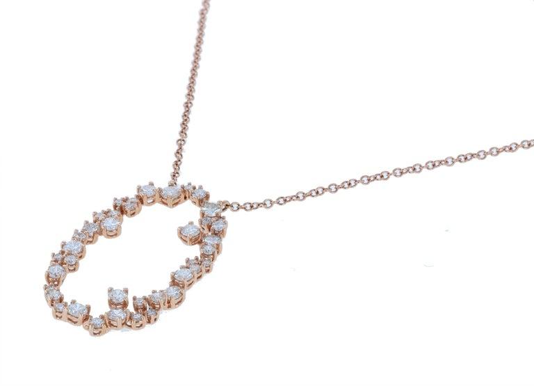 Amwaj Jewelry 18 Karat Rose Gold Pendant For Sale 1