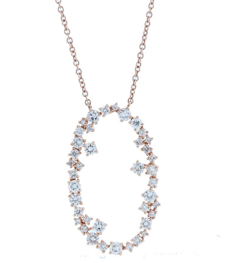 Amwaj Jewelry 18 Karat Rose Gold Pendant For Sale 2