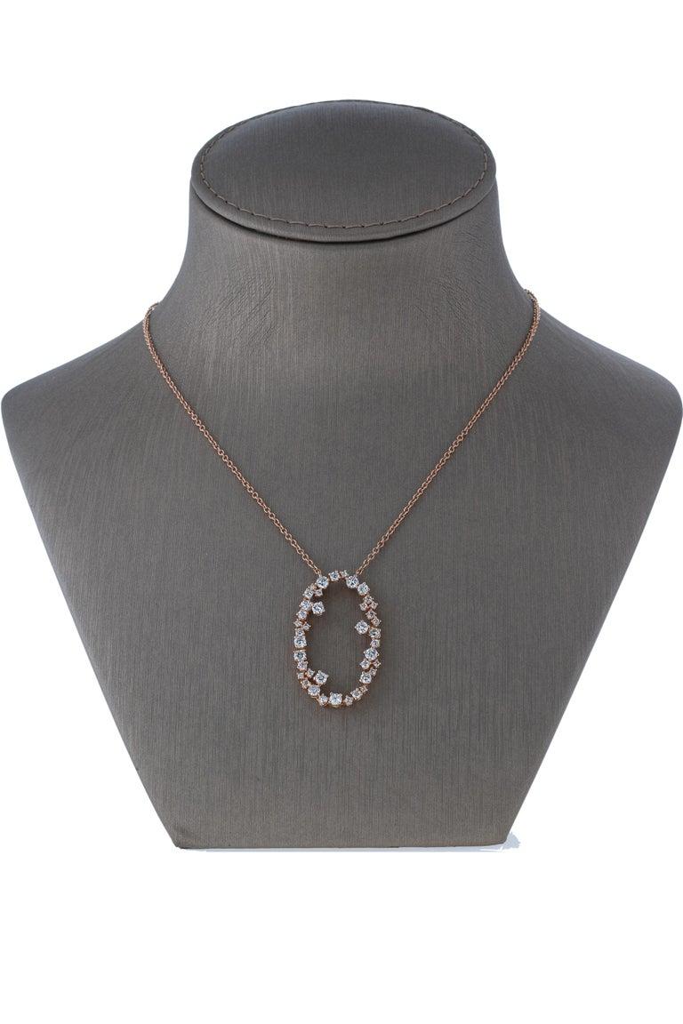 Amwaj Jewelry 18 Karat Rose Gold Pendant For Sale 3