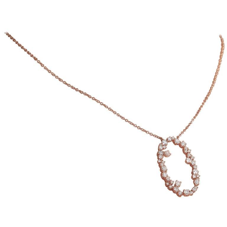 Amwaj Jewelry 18 Karat Rose Gold Pendant For Sale