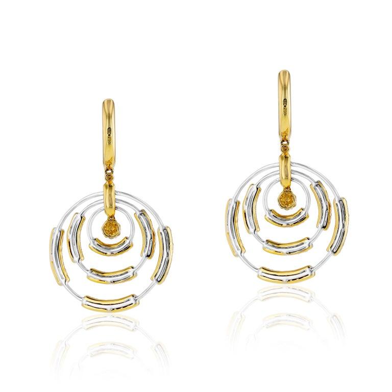 Contemporary Amwaj Jewelry 18 Karat White Gold Earrings For Sale