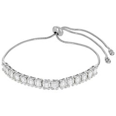 Amwaj Jewelry Baguette and Round Cut Diamond Bracelet