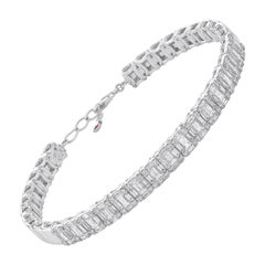 Amwaj Jewelry Baguette Cut Diamond Bracelet