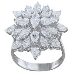Amwaj Jewelry Diamond Ring in 18 Karat White Gold