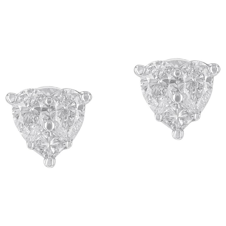 Amwaj Jewelry Heart Shape Stud Earrings For Sale