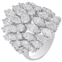 Multi-Shape Ring in 18 Karat White Gold