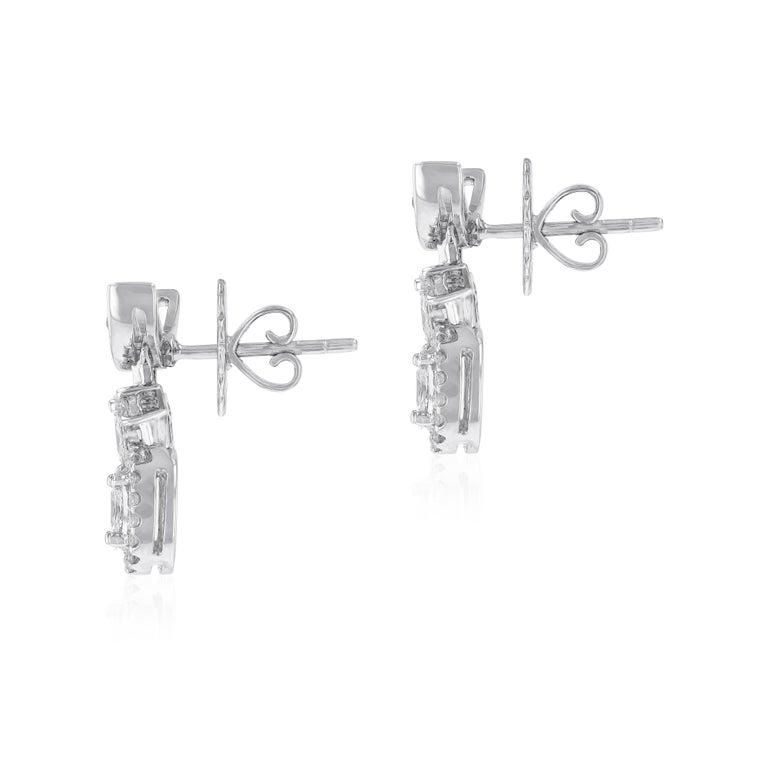 Romantic Amwaj Jewelry Round Diamond Earrings For Sale