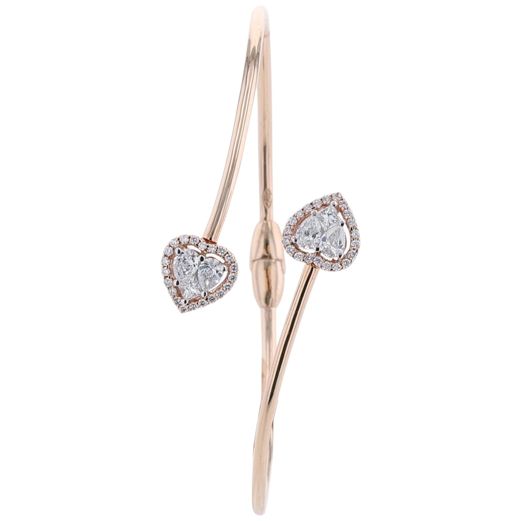 Amwaj Rose Gold 18 Karat Bracelet with Diamonds