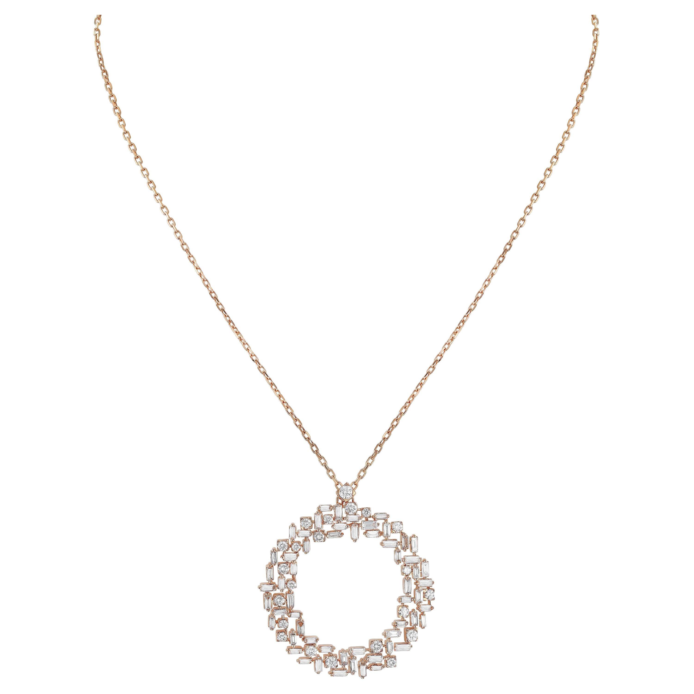 Amwaj Rose Gold 18 Karat Pendant with Diamonds