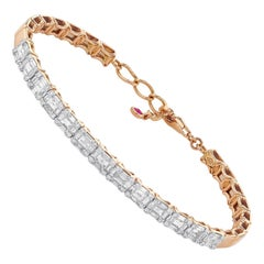 Amwaj Rose Gold Bracelet with Diamonds