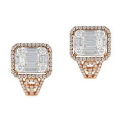 Amwaj Rose Gold Earring with Diamonds