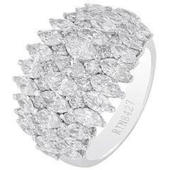 Amwaj White Gold 18 Carat Ring with Diamonds