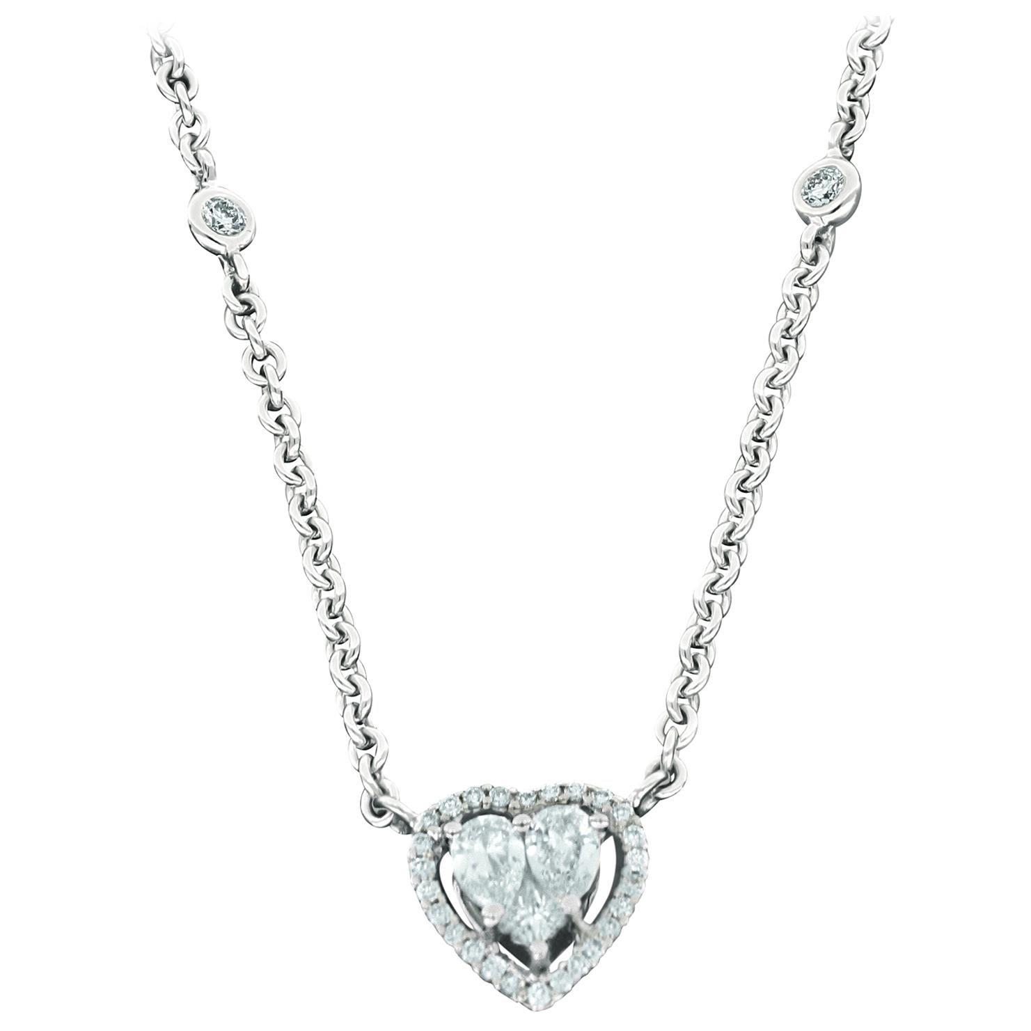 Amwaj White Gold 18 Karat Pendant with Diamonds