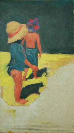 Beach Babes, Painting, Oil on Canvas