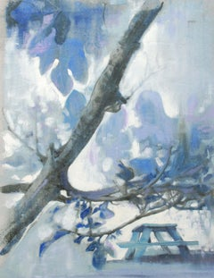 Blue Picnic, Painting, Oil on Canvas