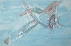 Cardboard Airplane, Painting, Acrylic on Canvas