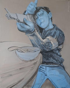 Cereal Bowl Killer, Painting, Acrylic on Canvas