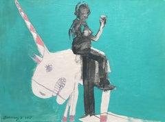 Drunken Unicorn, Painting, Acrylic on Canvas