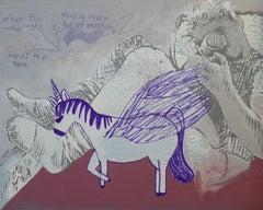 Guns and Unicorns, Painting, Acrylic on Canvas