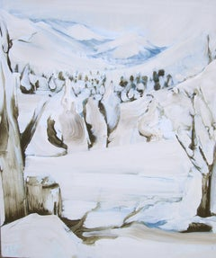 Kennedy Meadows In The Snow, Painting, Oil on Canvas