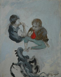 Play, Painting, Oil on Canvas