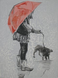 Rain Puppy, Painting, Acrylic on Canvas