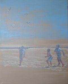 The Beach Dance, Painting, Acrylic on Canvas