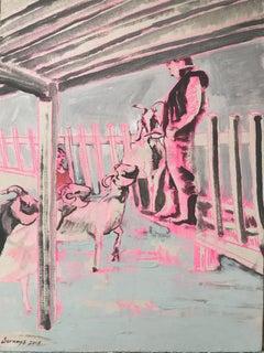 The Hay Heartthrob, Painting, Acrylic on Canvas