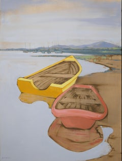 Yellow Boat Three, Painting, Acrylic on Canvas