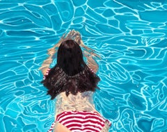 ''Andromeda'' Contemporary Underwater Portrait Painting of a Girl in a Pool