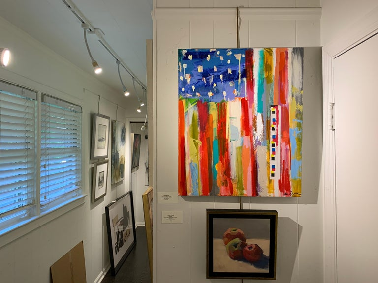 American Flag by Amy Dixon, Acrylic on Canvas Contemporary Abstract Painting For Sale 1