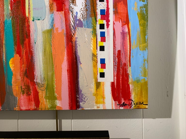 American Flag by Amy Dixon, Acrylic on Canvas Contemporary Abstract Painting For Sale 2