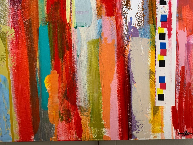 American Flag by Amy Dixon, Acrylic on Canvas Contemporary Abstract Painting For Sale 3