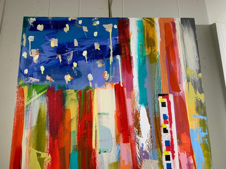 American Flag by Amy Dixon, Acrylic on Canvas Contemporary Abstract Painting For Sale 4