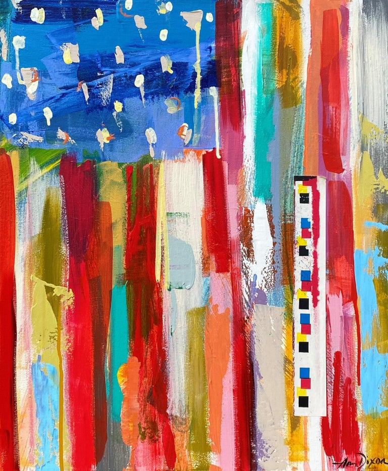 Amy Dixon's loose, spontaneous canvases are full of life, energy and a glorious palette that warm the soul. Mostly her paintings convey this artist's infectious joie de vivre and the pure and simple expressions of her creative soul.   Her energetic
