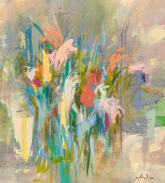 Calm by Amy Dixon Floral Acrylic on Canvas Contemporary Still-Life Painting