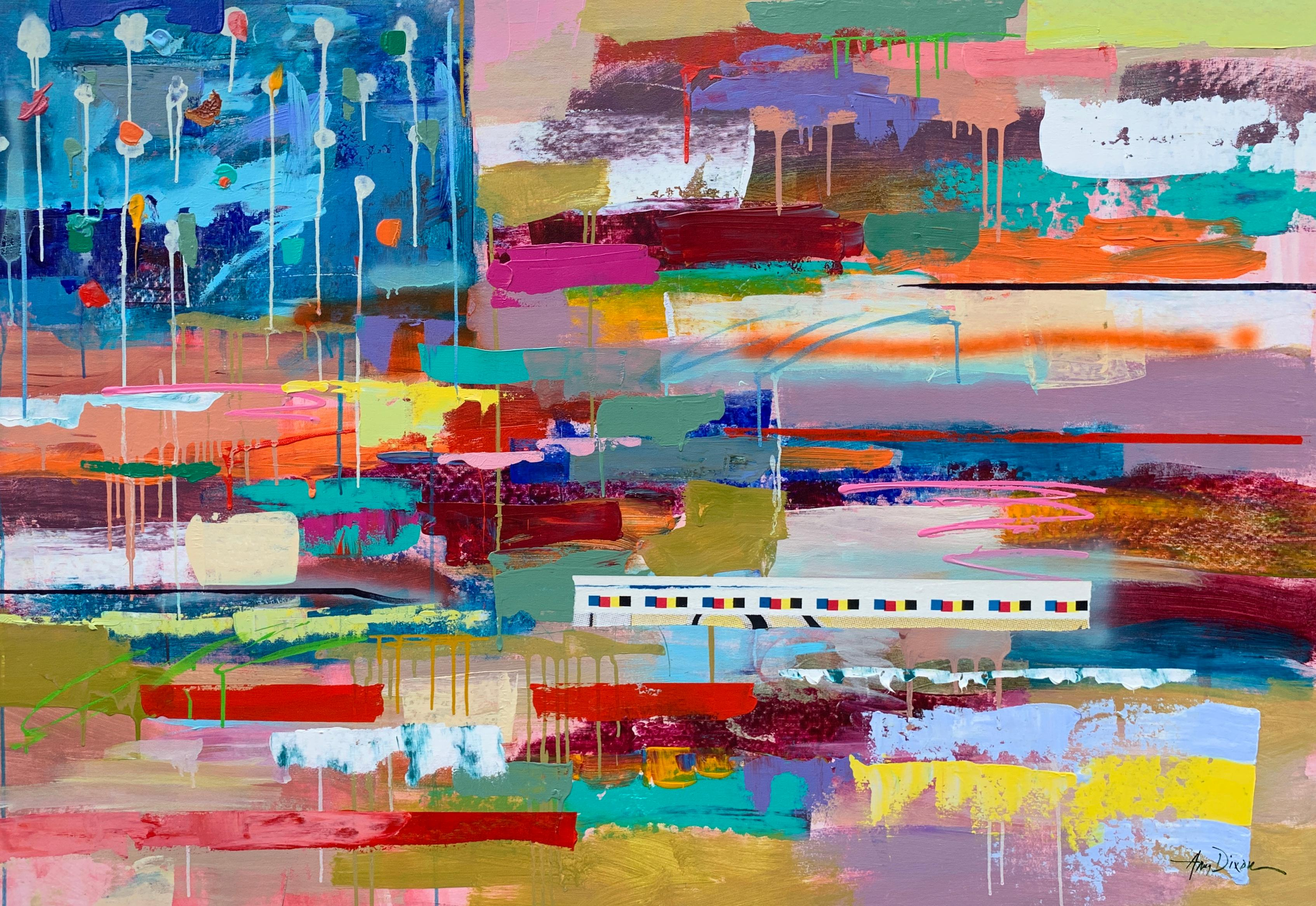 Flag of Many Colors by Amy Dixon, Acrylic on Canvas Abstract Painting