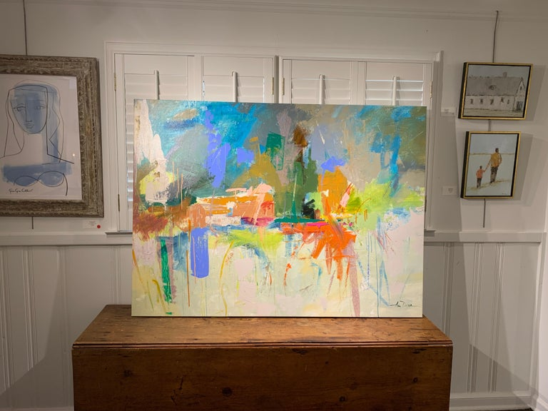 Let There Be Light by Amy Dixon, Abstract Horizontal Painting For Sale 2