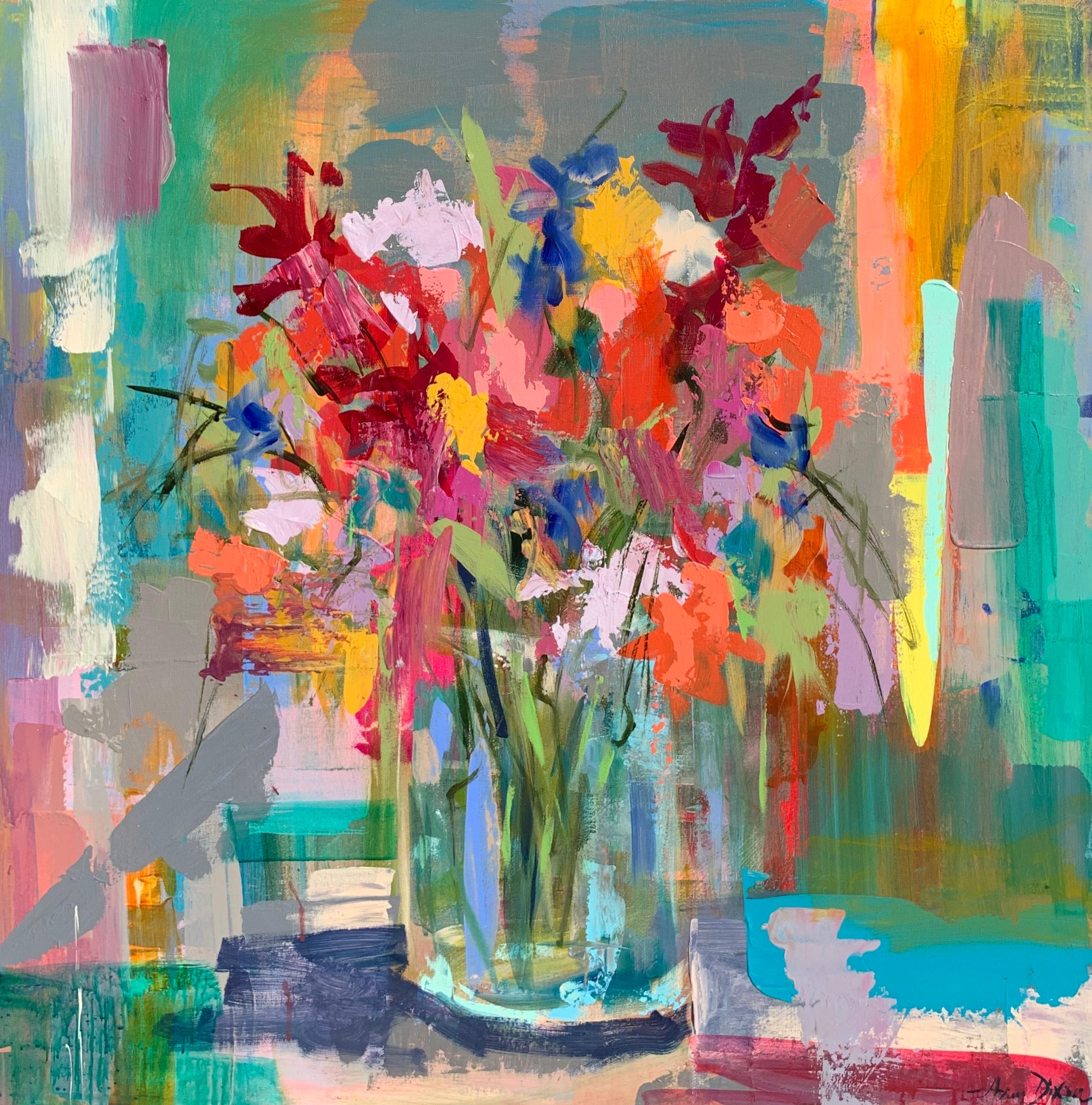 Suddenly Beautiful by Amy Dixon, Abstract Floral Acrylic on Canvas Painting
