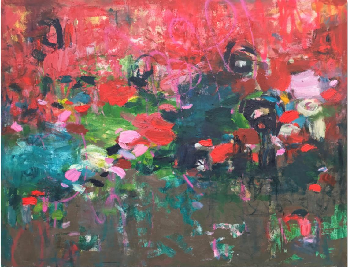 """""""Entangled In Love,"""" Abstract Painting"""