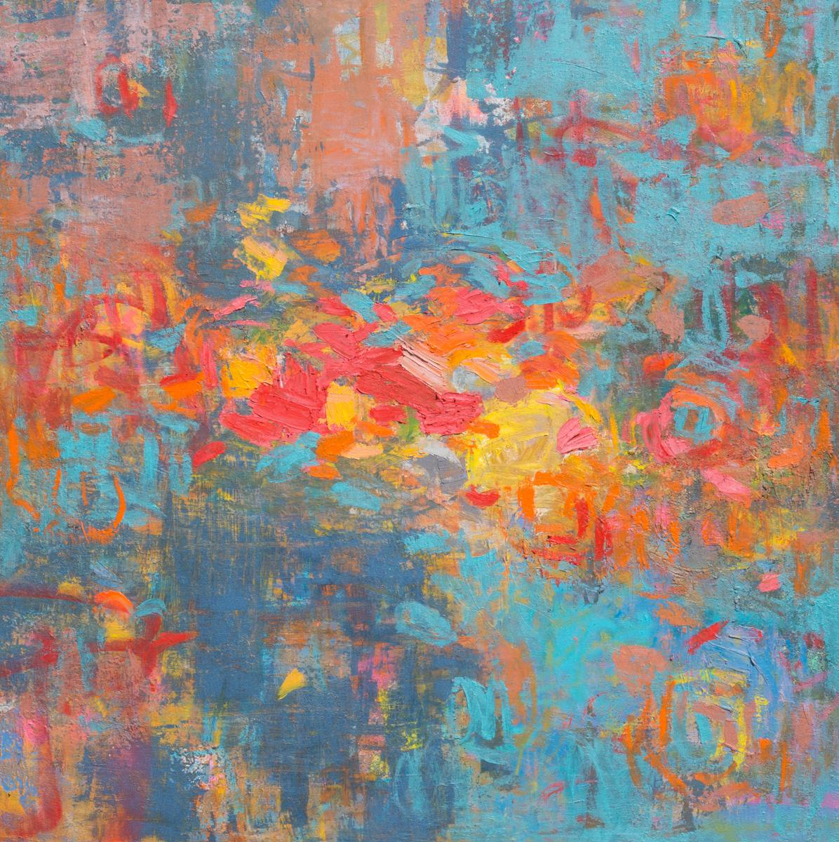 """""""Loving Energy,"""" Abstract Painting"""