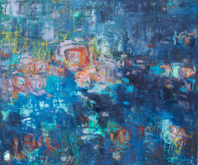 """Amy Donaldson Landscape Painting - """"Refreshing Spirit,"""" Abstract Painting"""
