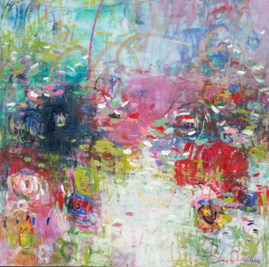"""""""Rejoice in My Presence,"""" Abstract Painting"""