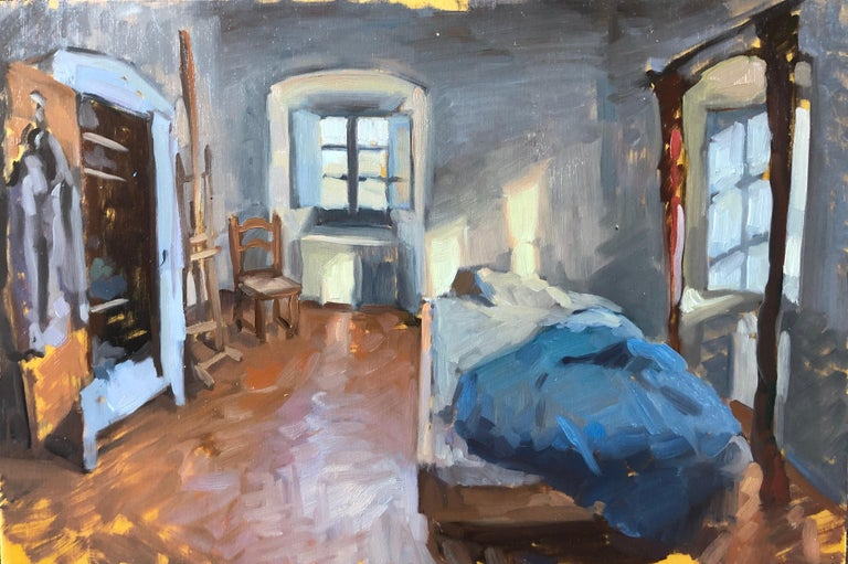 Bedroom Interior - Painting by Amy Florence