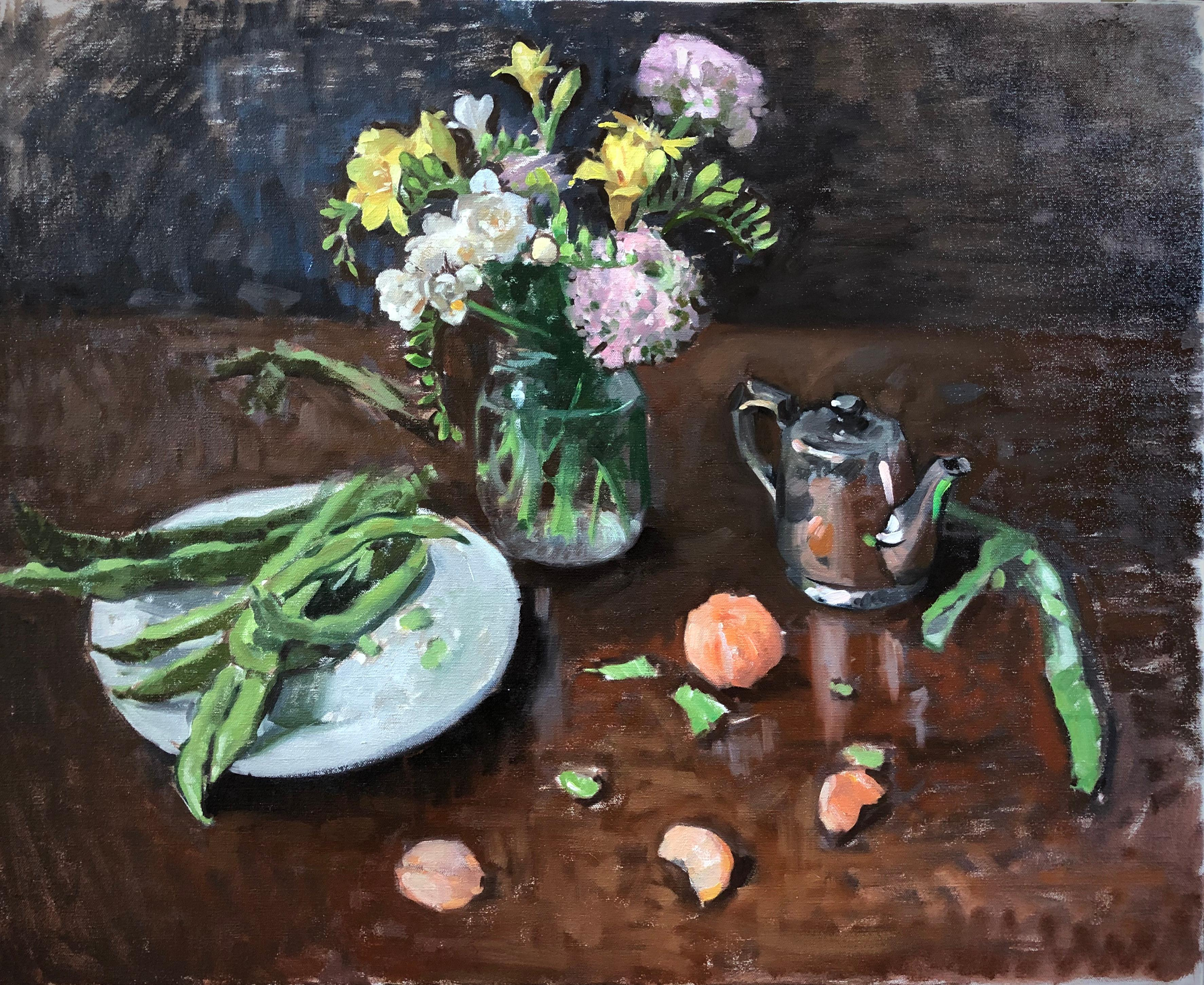 Fava, Flowers, and Clementines