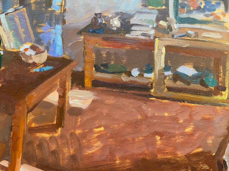 Interior at Bens - Brown Still-Life Painting by Amy Florence