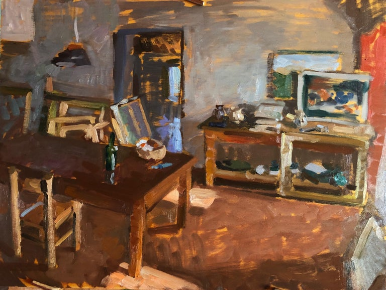 Interior at Bens - Painting by Amy Florence